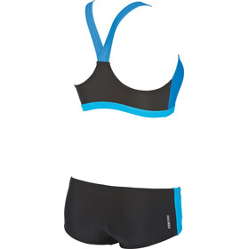 arena Drom Two Pieces Swimsuit Women black/turquoise/pix-blue